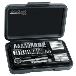 27 Piece Deep Metric & Standard Socket Sets, 1/4 in, 6 Point, 12 Point