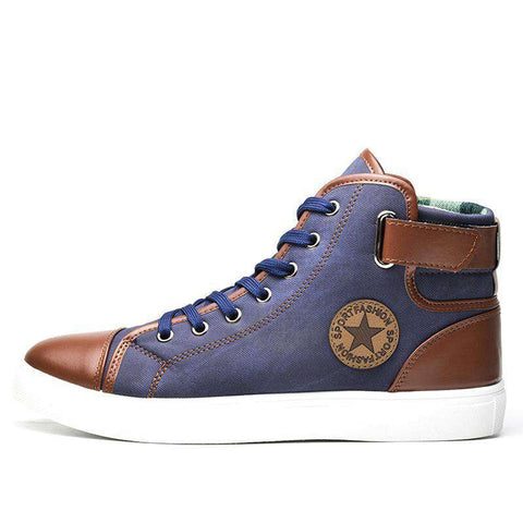 Image of Men's High Top Canvas Shoes - Discountz Market
