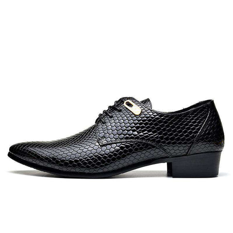 Designer Reptile Patterened Leather Shoes - Discountz Market
