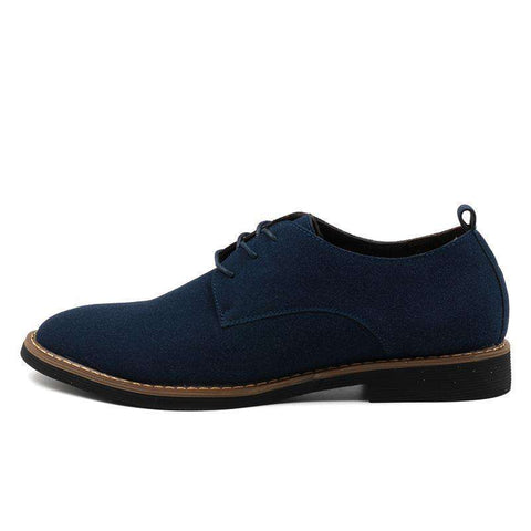 Image of Men's Suede Leather Casual Shoes - Discountz Market
