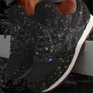 Women Sparkly Bling Platform Sneakers