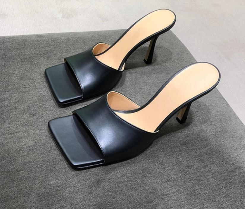 Women  Square Toe Thin High Heels