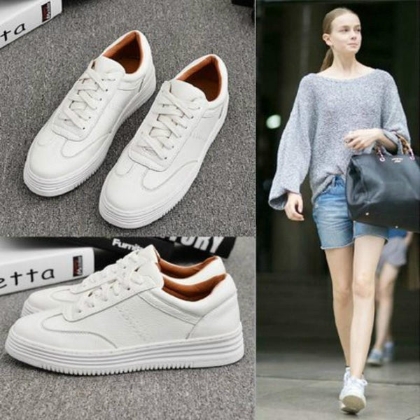Women`s Chunky White Sneakers
