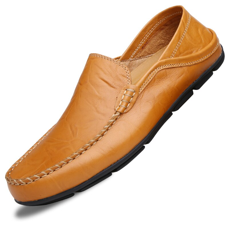 Men`s Casual Breathable Loafers in Genuine Leather