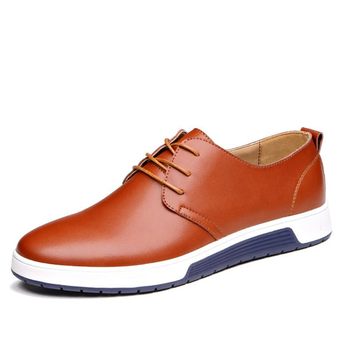 Men  Leather  Casual Footwear
