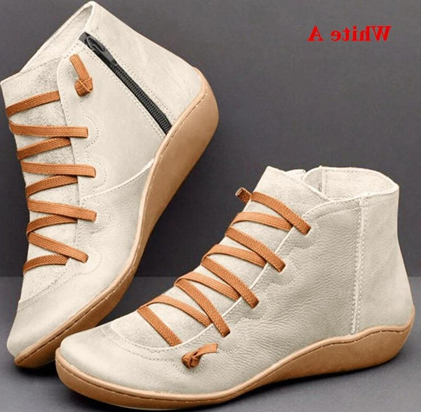 Women's PU Leather Ankle Boots