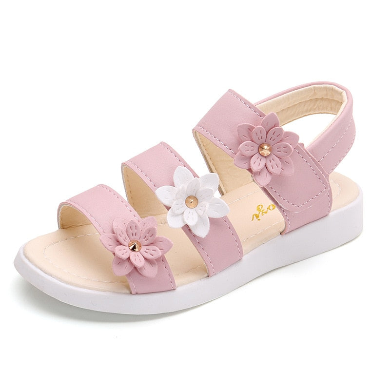 Girls  Gladiator Flowers Sandals