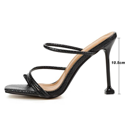 Women`s square toe high heels