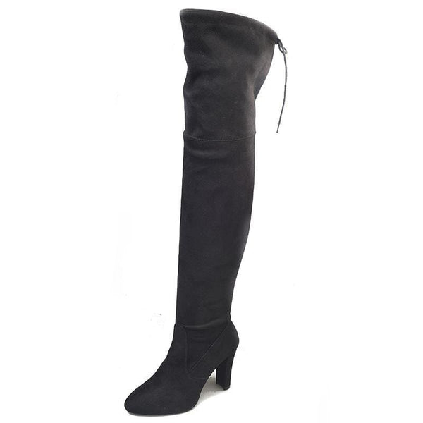 Women Sexy over the knee suede boots