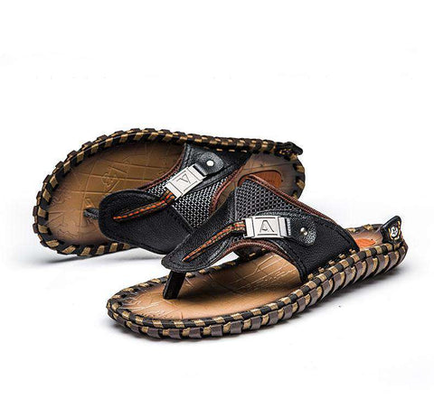 Genuine Leather Men Flip Flops - Discountz Market