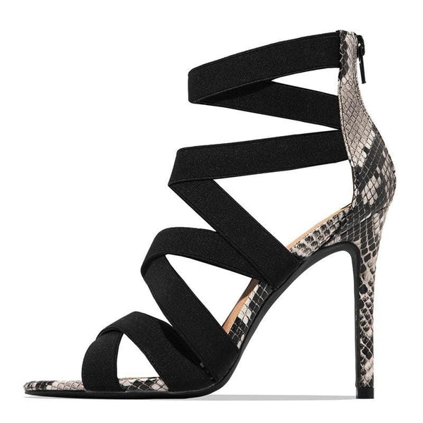 Women's Ladies Pumps  solid Colors with Snake design