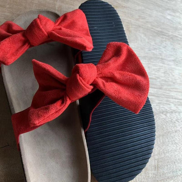Women`s  Flat Sandals Bow-Knot
