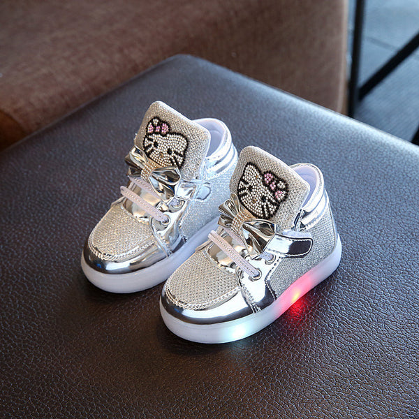 Kid`s  Hello Kitty  Shoes With LED Light 21-30