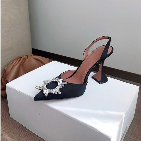Women  Elegant Pointed toe Rhinestones High heels