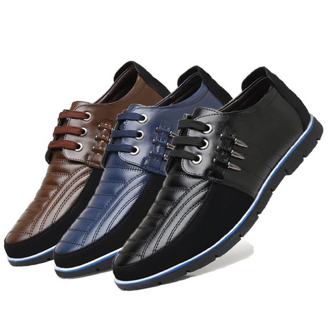 Image of Mens High Quality Leather Casual Shoes - Discountz Market