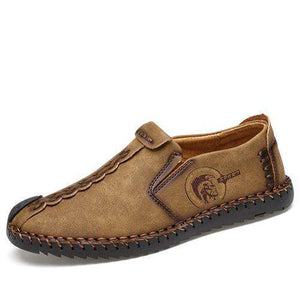 Split Leather Moccasins - Discountz Market