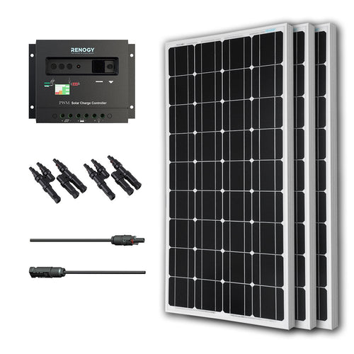 Renogy Monocrystalline Solar Bundle Kit, 300 Watt, Panel