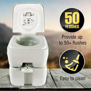 SereneLife Portable Flushing Toilet