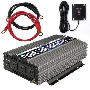 Pure SINE Wave Inverter 1500W Cont/3000W Peak