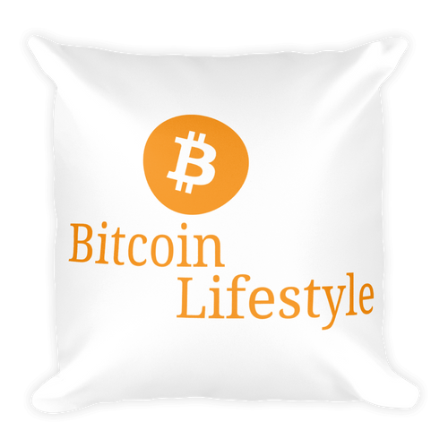 Bitcoin Lifestyle High Quality Soft Square Pillow
