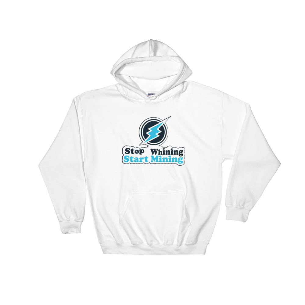 New Stop Whining Start Mining High Quality Hooded Sweatshirt