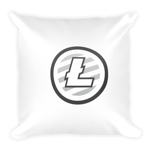Soft Litecoin Square Pillow