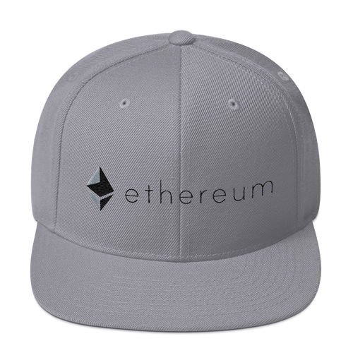 Ethereum Snapback Hat For Cryptolovers