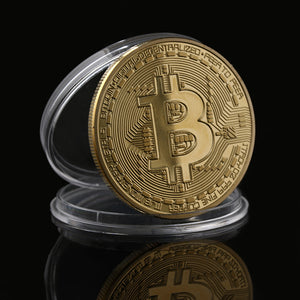 FREE Silver/Gold Plated Coin BTC Bitcoin Coin Collection Art Gift...