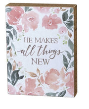 Christian Home Decor For Women 'He Makes All Thinks New'