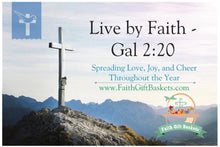 Live By Faith Post Card For Christians