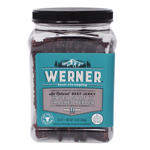 All Natural Sea Salt & Cracked Pepper Beef Jerky
