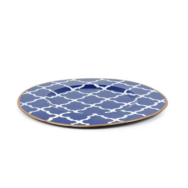 "Madeline Navy 11"" Charger Plate 4-Pack"