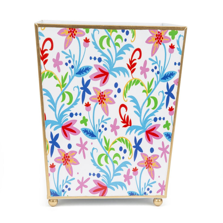 Tropical Floral Wastebasket