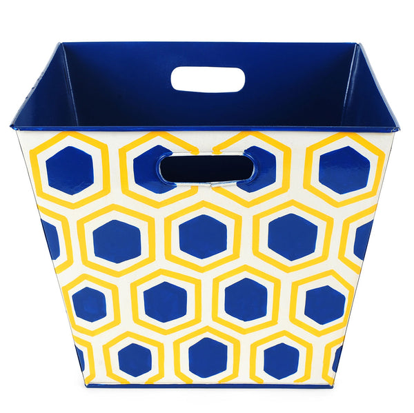 Honeycomb Navy Storage Bin