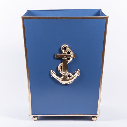 "Regency Collection Anchors Wastebasket ""As Is"""