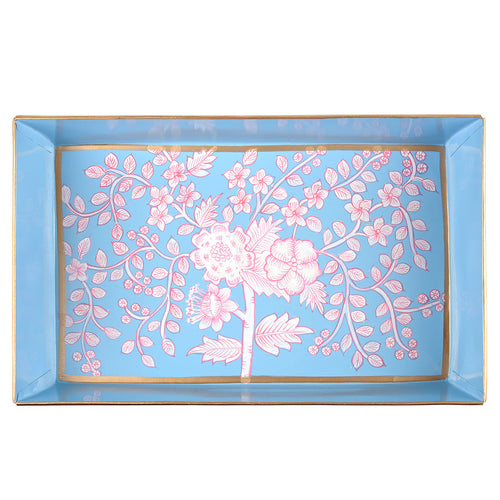 Floral Toile Organizing Tray