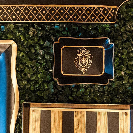 Foliage Blue Cocktail Napkin Tray