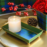 Scottish Plaid Guest Towel Tray
