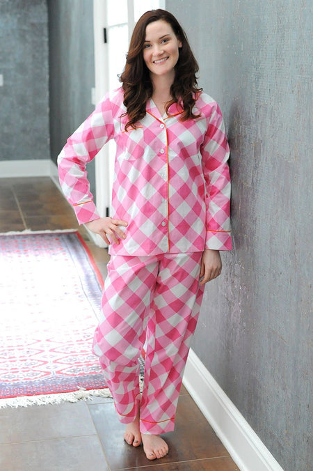 Buffalo Turquoise Sateen Full Pajama Set