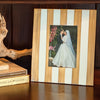 Brushed Stripe Cream Picture Frame