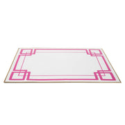 White and Pink Interlocking Key Placemat (4pk)