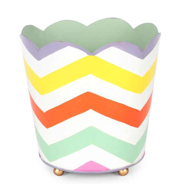 "Capri Chevron 6"" Decorative Cachepot"