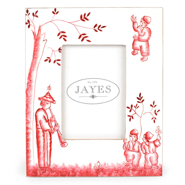 "Chinoiserie Red 5""x7"" Picture Frame"