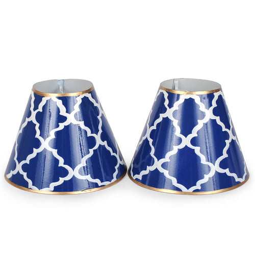"Madeline Navy Set of Two 4"" Shades"