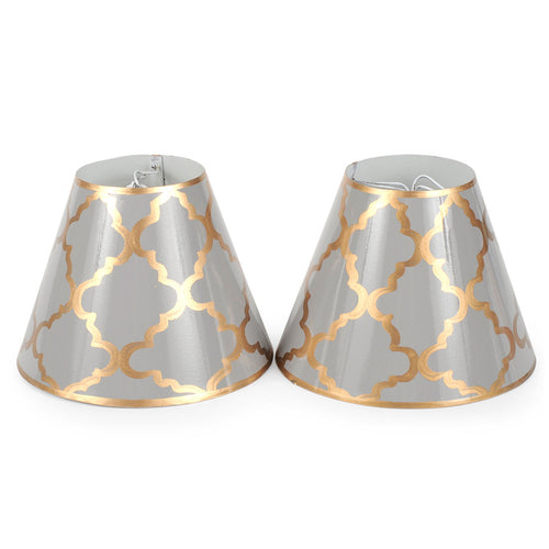 "Madeline Grey Gold Set of Two 4"" Shades"