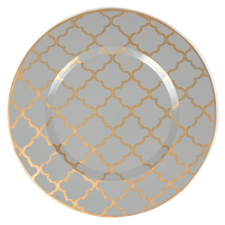 Interlocking Key Taupe Napkins (4pk)