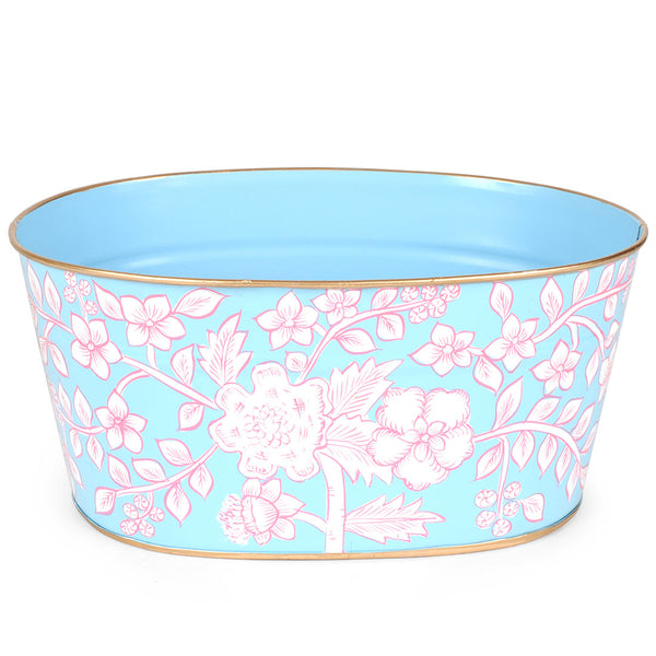 Floral Toile Mail Tub