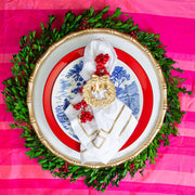 Color Block Wreath Napkin Ring (4pk)
