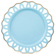 "Laurie 14"" Light Blue Charger Plate 4-Pack"