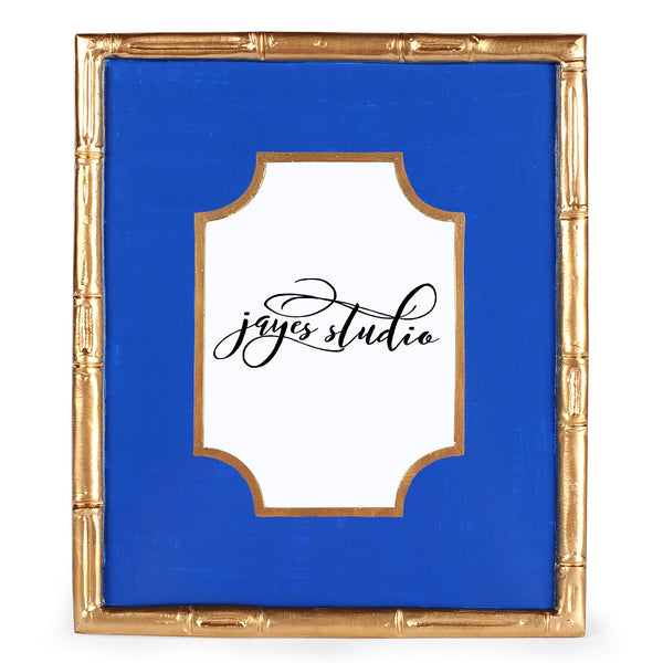 "Block Navy Bamboo Photo Frame ""As Is"""